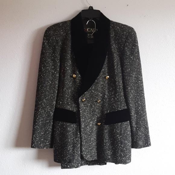 Escada Jackets & Blazers - Escada blk -wht 2 PC suit